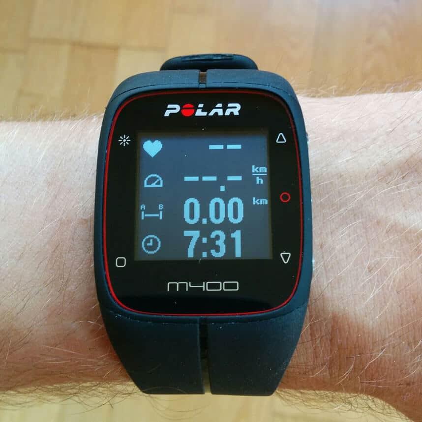 Anzeigedisplay Polar M400 Fahrrad