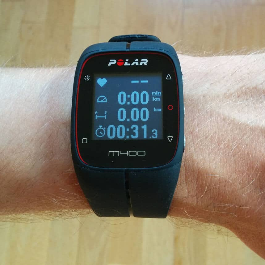 Uhr Polar M400 im Laufmodus